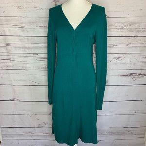 BCBG Maxazria sweater dress teal medium NWT